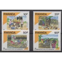 Rwanda - 1991 - No 1313/1316