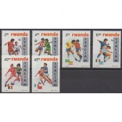 Rwanda - 1990 - No 1301/1306 - Coupe du monde de football