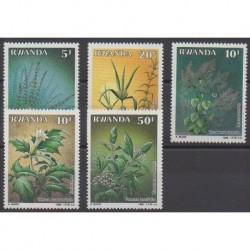 Rwanda - 1988 - No 1276/1280 - Fleurs