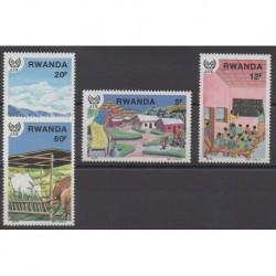 Rwanda - 1987 - Nb 1251/1254
