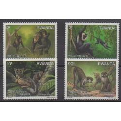 Rwanda - 1988 - No 1259/1262 - Mammifères