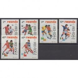 Rwanda - 1986 - No 1211/1216 - Coupe du monde de football