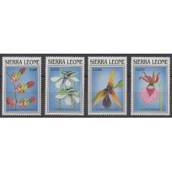 Sierra Leone - 1989 - Nb 1004/1007 - Orchids