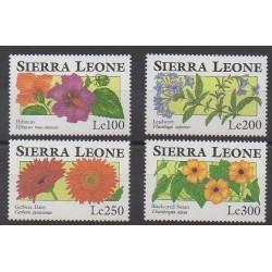 Sierra Leone - 1993 - Nb 1695/1698 - Flowers