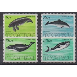 Mozambique - 1986 - Nb 1037/1040 - Sea animals - Mamals