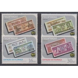 Mozambique - 1986 - Nb 1042/1045 - Coins, Banknotes Or Medals