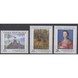 Tchèque (République) - 2003 - No 353/355 - Peinture