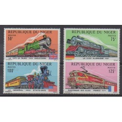 Niger - 1975 - No 316/319 - Chemins de fer - Neufs avec charnière