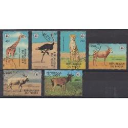 Niger - 1978 - No 449/454 - Mammifères - Oblitérés