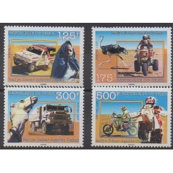 Niger - 1997 - Nb 922/925 - Cars - Motorcycles