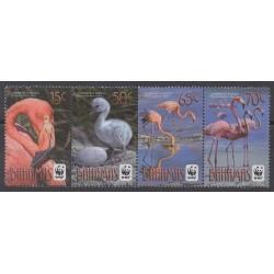 Bahamas - 2012 - 1442/1445 - Oiseaux - Espèces menacées - WWF