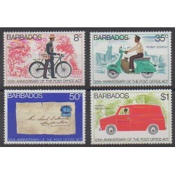 Barbade - 1976 - No 417/420 - Service postal