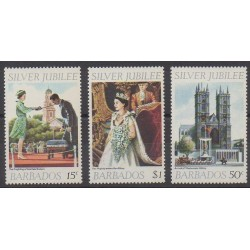 Barbade - 1977 - No 425/427 - Royauté - Principauté