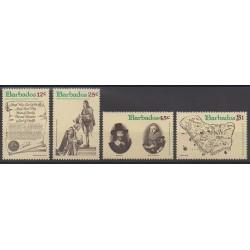 Barbados - 1977 - Nb 438/441 - Various Historics Themes