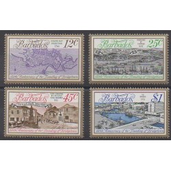 Barbados - 1978 - Nb 445/448 - Various Historics Themes