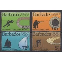 Barbade - 1984 - No 592/595 - Jeux Olympiques d'été