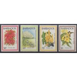 Barbados - 1984 - Nb 604/607 - Flowers