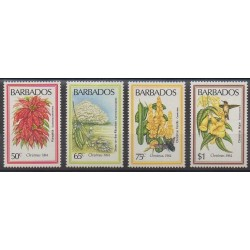 Barbade - 1984 - No 604/607 - Fleurs