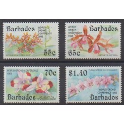 Barbados - 1993 - Nb 852/855 - Orchids