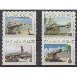 Barbade - 1993 - No 860/863 - Histoire militaire