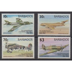 Barbados - 1993 - Nb 856/859 - Planes - Military history