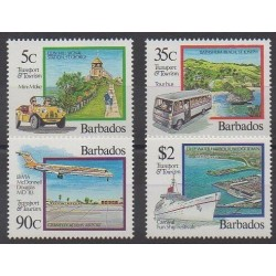 Barbados - 1992 - Nb 844/847 - Tourism - Transport
