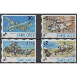 Barbade - 1995 - 916/919 - Histoire militaire - Hélicoptères