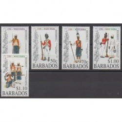 Barbade - 1995 - No 903/907 - Histoire militaire