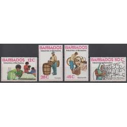 Barbade - 1978 - No 460/463 - Artisanat ou métiers