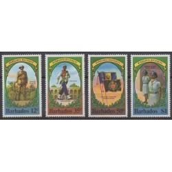 Barbade - 1980 - No 504/507 - Histoire militaire