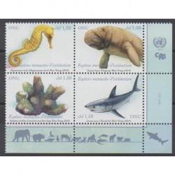 Nations Unies (ONU - Genève) - 2019 - No 1048/1051 - Espèces menacées - WWF