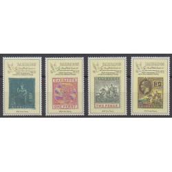 Barbade - 1990 - No 776/779 - Timbres sur timbres