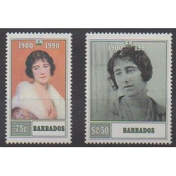 Barbade - 1990 - No 780/781 - Royauté - Principauté