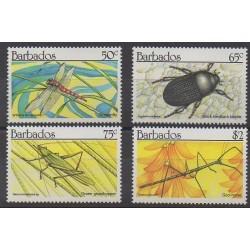 Barbade - 1990 - No 793/796 - Insectes