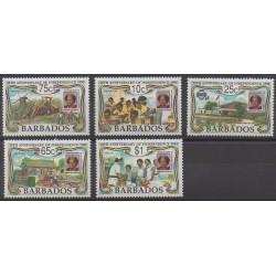 Barbade - 1991 - No 820/824 - Histoire