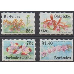 Barbade - 1992 - No 840/843 - Orchidées