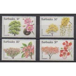 Barbade - 1992 - No 831/834 - Arbres