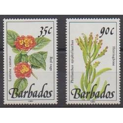 Barbade - 1992 - No 829/830 - Fleurs
