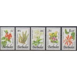 Barbade - 1992 - No 835/839 - Fleurs