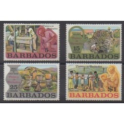 Barbade - 1973 - No 357/360 - Artisanat ou métiers