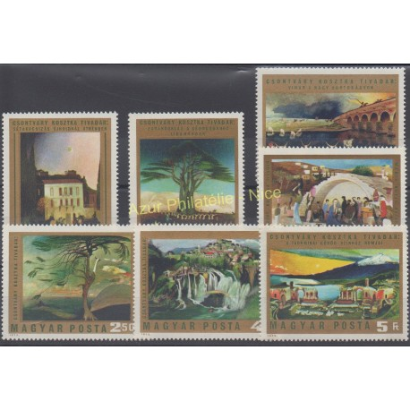 Hongrie - 1973 - No 2315/2321 - Peinture