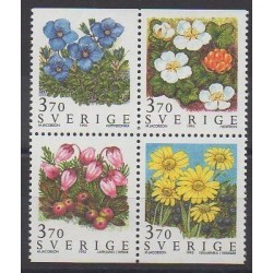 Suède - 1995 - No 1867/1870 - Fleurs