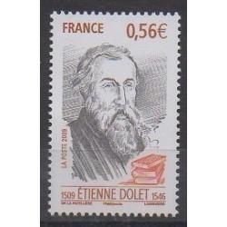 France - Poste - 2009 - Nb 4377 - Literature