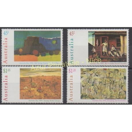 Australie - 1995 - No 1411/1414 - Peinture