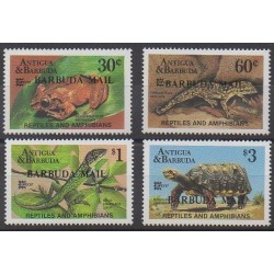 Barbuda - 1987 - No 936/939 - Reptiles - Philatélie