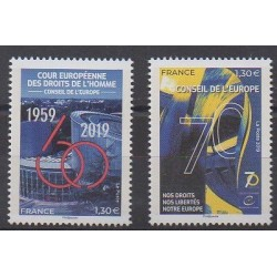 France - Official stamps - 2019 - 174/175 - Human Rights