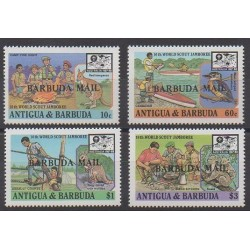 Barbuda - 1988 - Nb 984/987 - Scouts