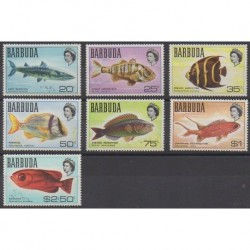Barbuda - 1968 - Nb 20A/26 - Sea animals