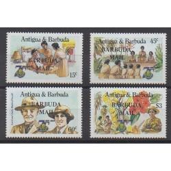Barbuda - 1986 - No 793/796 - Scoutisme