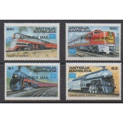 Barbuda - 1986 - Nb 821/824 - Trains - Philately